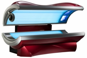 tanning bed open